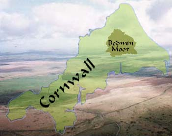 Aerial shot of Bodmin Moor