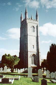 North Hill - the parish church.